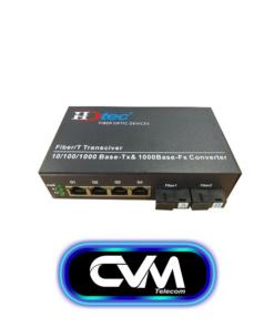 Converter quang 2 soi 4 port rj45 HDTec