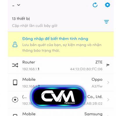 Phần mềm quét ip wifi