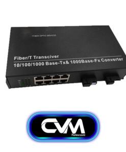 Converter quang HDTec 2 sợi 8 port PoE