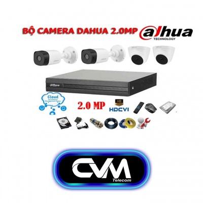 Bộ 04 Camera DAHUA