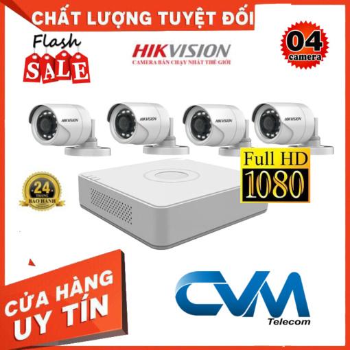 Trọn Bộ 4 Camera DS-2CE16B2-IPF Quan Sát Hikvision