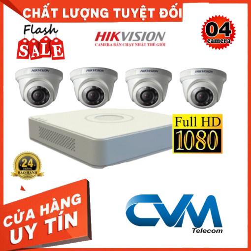 Trọn Bộ 4 Camera DS-2CE56B2-IPF Quan Sát Hikvision